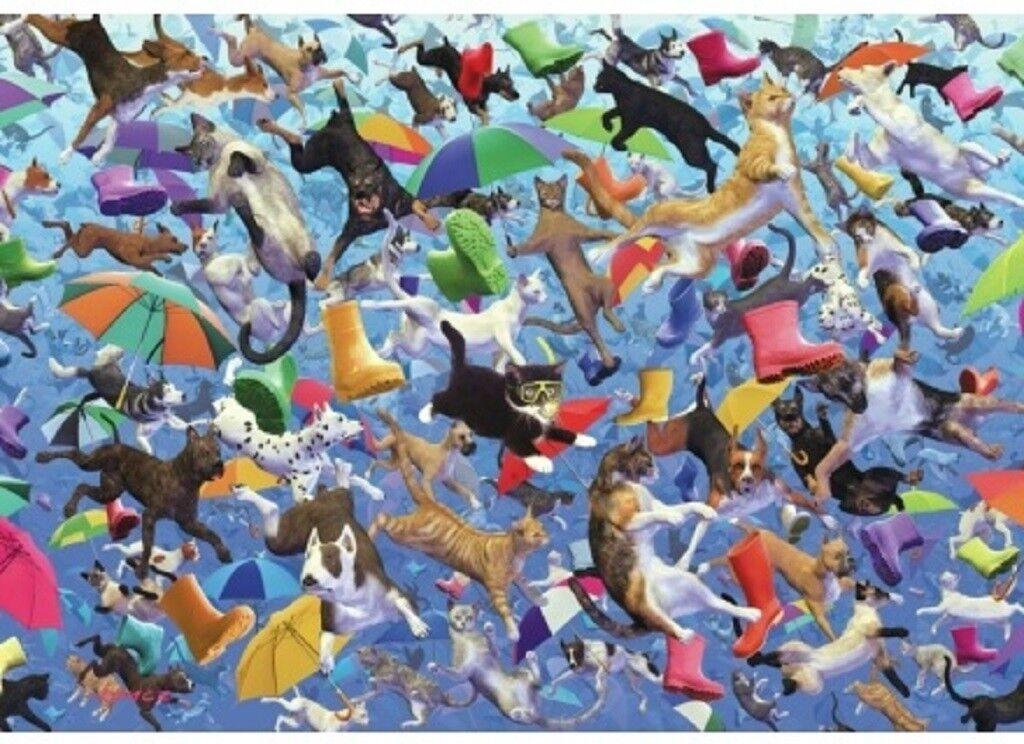 Wentworth lloviendo gatos y perros alrojoedor de 250 Piezas de Rompecabezas de Madera