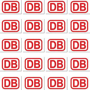 20 Aufkleber 2cm Rot Db Deutsche Bahn Zeichen Modellbau Mini