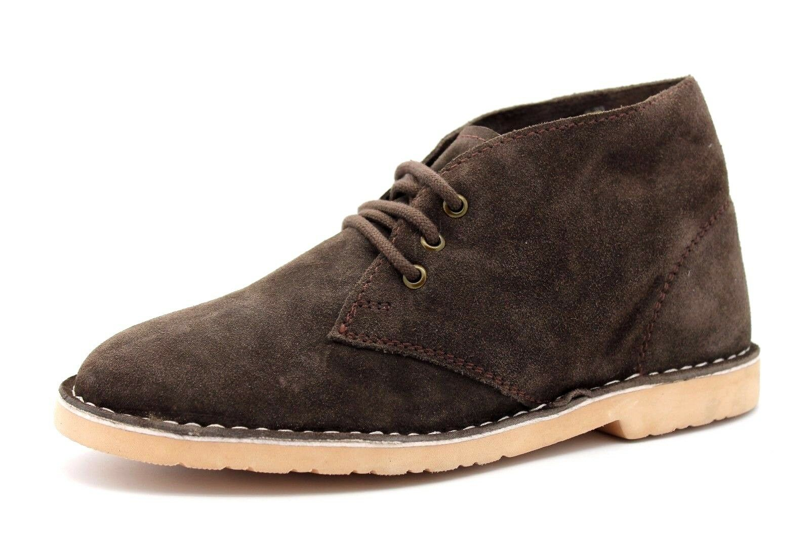 Pegasus Mens Brown Suede Leather Lace Up Desert Boots shoes FREE POST