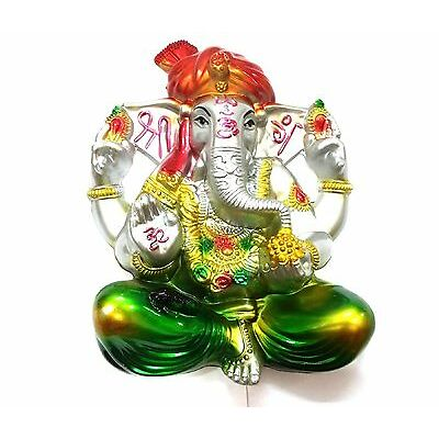 BEAUTIFUL GANPATI STATUE  FOR WALL HANGING HOLDER HOME &  OFFICE  &  AS A GIFT-