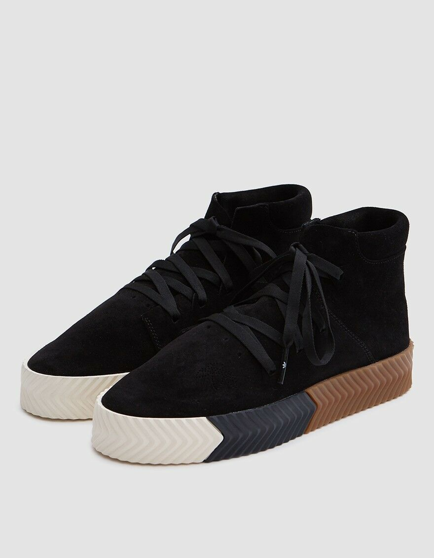 Adidas Originals ALEXANDER WANG AW Skate Mid Black/Gum/Tan Shoes