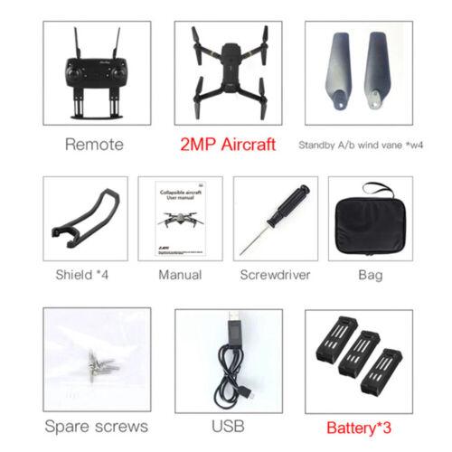 Drone X Pro Foldable Quadcopter WIFI FPV 1080P Wide-Angle HD Camera Batteries
