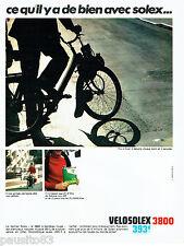 PUBLICITE ADVERTISING 026  1968   Velosolex 3800  cyclomoteur  Solexine