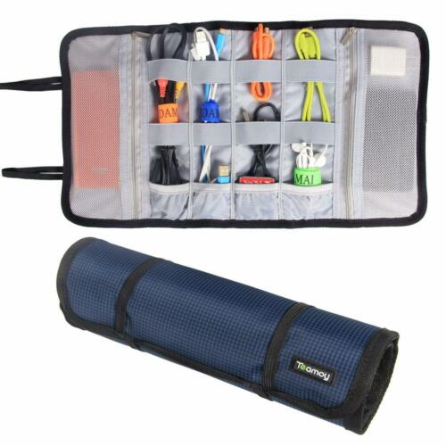 Travel Cable Cord Organizer Electronics Accessories Bag USB Cord Bag Roll Up