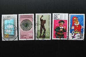 Stamp-Germany-Rda-Stamp-Germany-yt-N-2505-2506-2507-2808-2509-Obl-Cyn14