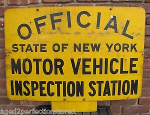 Vtg official state of new york motor vehicle inspection for New jersey motor vehicle inspection stations
