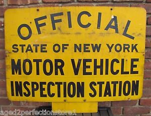 Vtg Official State Of New York Motor Vehicle Inspection