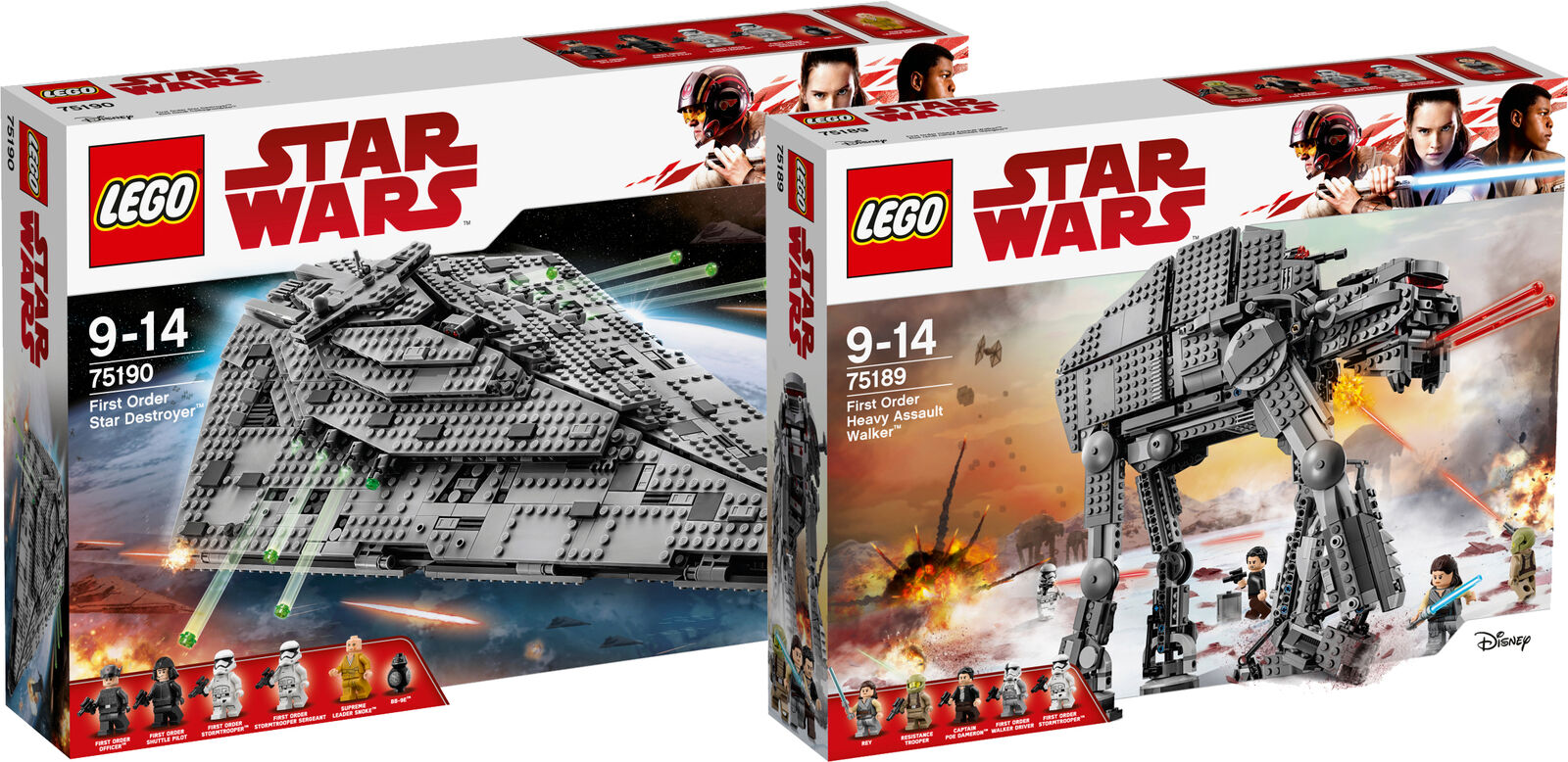 LEGO ® Star Wars first order Star Destroyer 75190 75189 Heavy Assault Walker