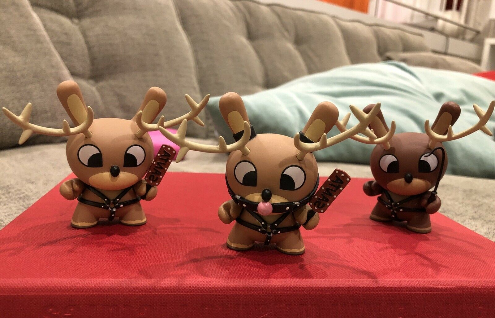 "Dunny 3"" Holiday Naughty Reindeer Set Chuck Boy - Extremely Rare"