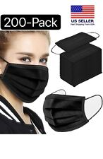 100200pcs Black Face Mask Mouth Amp Nose Protector Respirator Masks With Filter