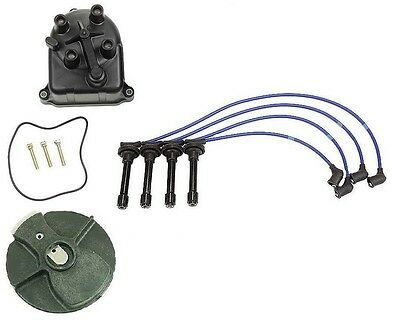 For Integra B18B1 NGK Blue Bosch Tune-Up Kit Cap Rotor Spark Plugs Wire Set