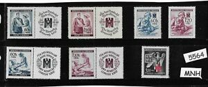 MNH-Stamp-set-German-Occupation-Third-Reich-Red-Cross-amp-Nursing-WWII