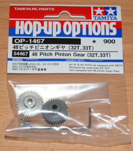 TAMIYA 54467 48 Pitch pinion gear (32T, 33T), (XV-01 / xv01 / xv-01tc / xv01tc), NIP