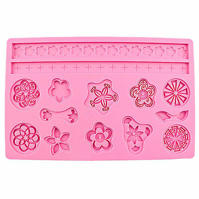 Lot Molds Cute Silicone Fondant Cake Embossing Gum Paste Decorating Baking Molds