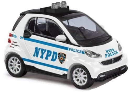 Busch 46208 Smart for Two 2012 Police HO Scale Model Vehicle