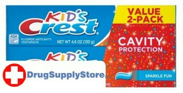 Crest Toothpaste 4.6 oz Kids 2-Pack Cavity Protection