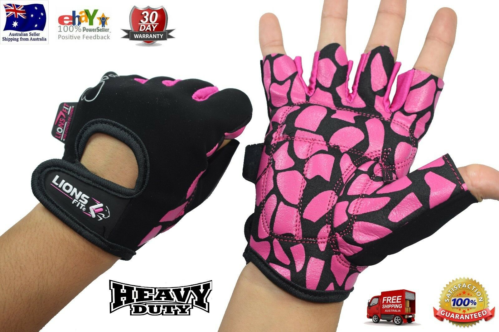 LIONS FIT 2018 LADIES WEIGHT LIFTING GLOVES GYM BODY BUILDING TRAINING GLOVES