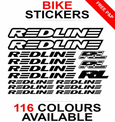 die-cut Redline decals stickers sheet cycling, mtb, bmx, road, bike