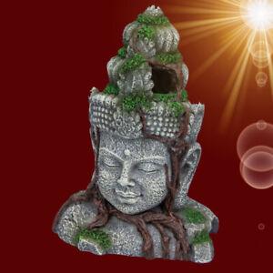 Aquarium-Deko-VISHNU-Asien-Skulptur-Dekoration-Hoehle-Zubehoer