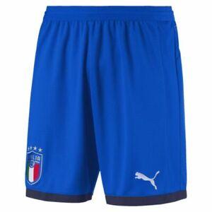 orden arpón colisión  Puma Italy Italia 2018 - 2019 Home Soccer Shorts Brand New Royal Blue | eBay