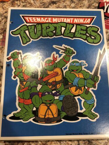 Vintage 1989 Teenage Mutant Ninja Turtles Folder  School 80s USA TMNT