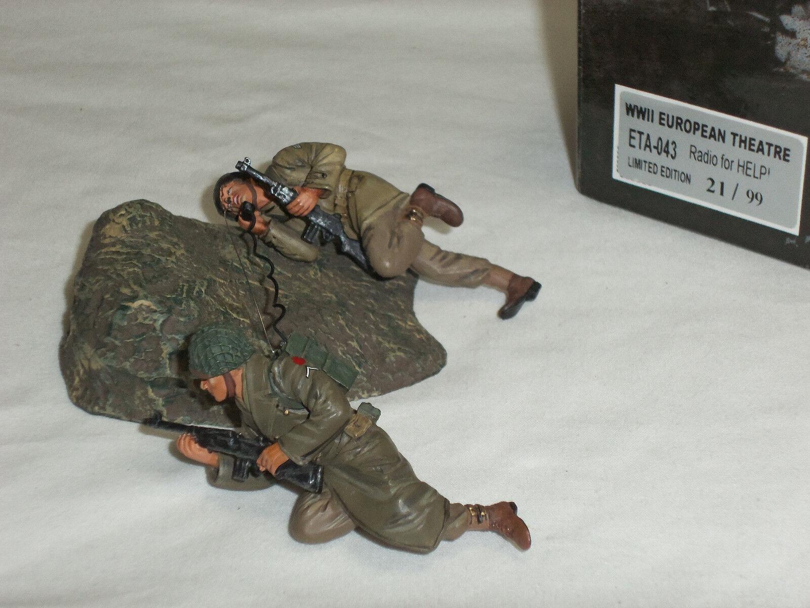 FIGARTI ETA043 BRITISH ARMY RADIO FOR HELP OPERATOR METAL TOY SOLDIER FIGURE SET