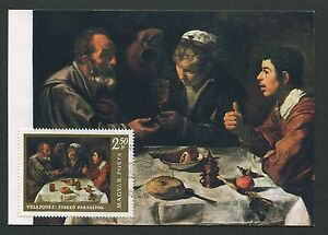 Responsable La Hongrie Mk 1968 Peintures Painting Velasquez Maximum Carte Maximum Card Mc Cm D3558-afficher Le Titre D'origine