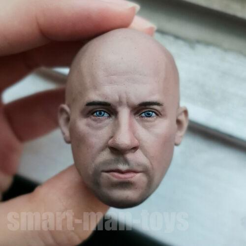 1//6 scale Head Sculpt Vin Diesel  Fast /& Furious fit 12/'/' Figure Body
