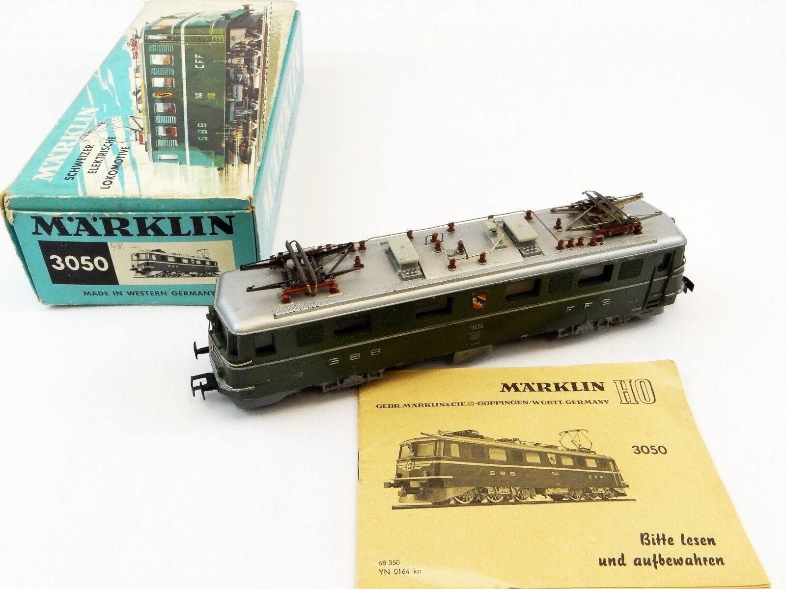 h0 3050 E-Lok BR AE 6/6 SBB ghiu versione di 1965 CON SCATOLA IMMAGINE  A