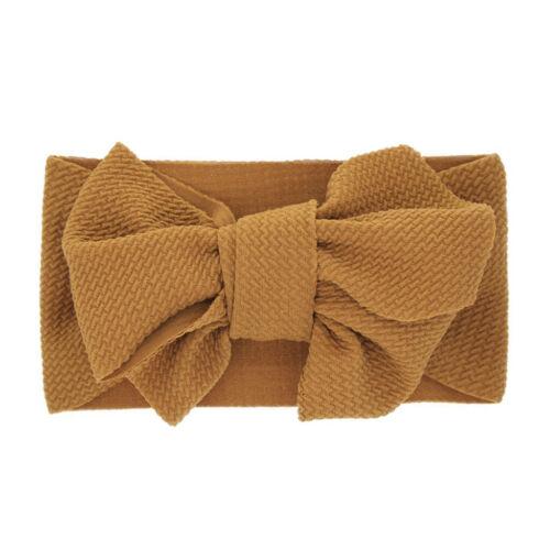 Baby Girls Kids Toddler Bow Hairband Headband Stretch Turban Knot Head Wrap