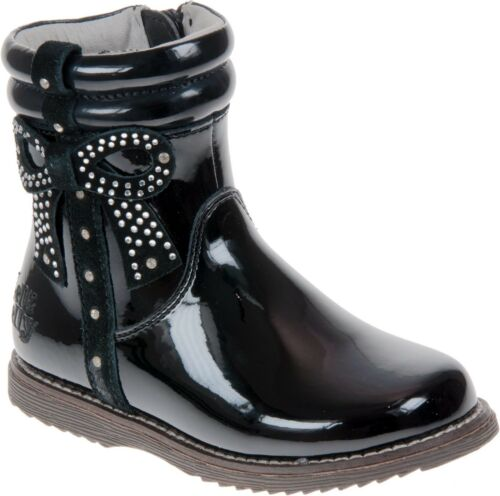 Designer LELLI KELLY Girls Black Patent Winter Boot with Gift WAS £60 NOW £45