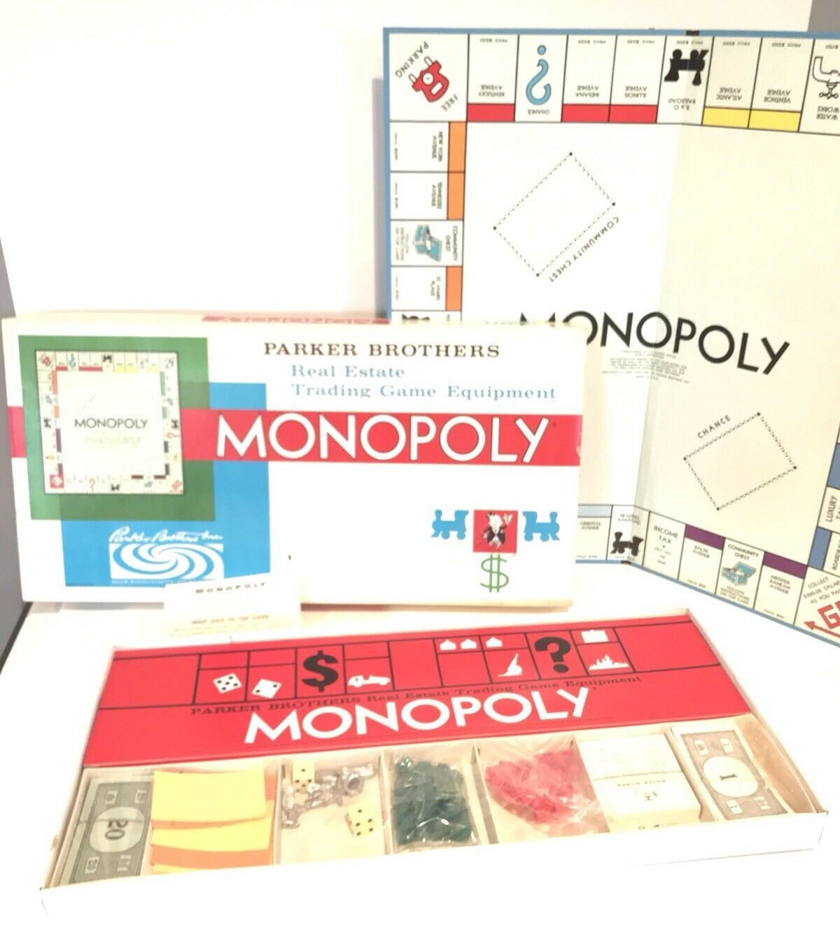 Vintage Monopoly Game RARE 1961 Real Estate Trading Game Equipment Sealed