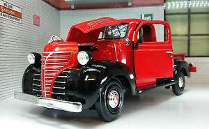Escala-G-LGB-1-24-Rojo-1941-Plymouth-Camion-Camioneta-Diecast-Modelo-Ferroviario