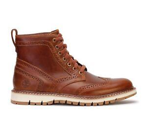 Details about Timberland Britton Hill Wingtip Boot # TB0A1MH3 Brown Men SZ 7.5 13