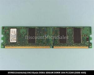 Hynix HYMD216646A6J-D43 DDR 128MB PC-3200 Non ECC 400Mhz RAM Memory