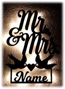 Hochzeitsgeschenke Fur Brautpaar Personalisiert I Led Tauben Herz Mr