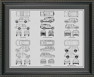 Blueprint art land rover auto collection car artwork gift poster image is loading blueprint art land rover auto collection car artwork malvernweather Choice Image