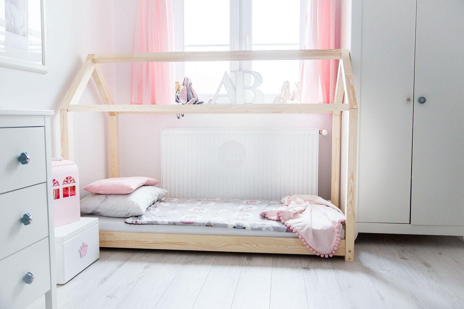 Lit enfant-Maison en bois Lit pour enfants Talo d1 70x160 cm