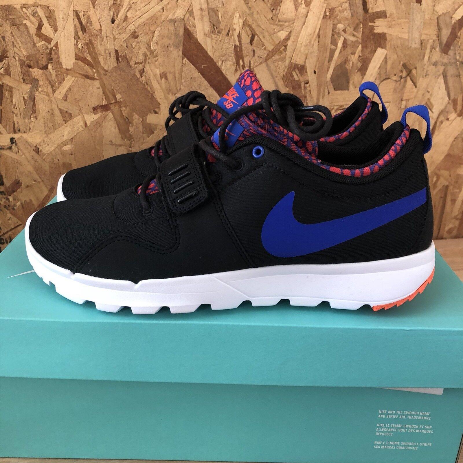 buy popular cc6a1 0b6c9 Nike SB Trainerendor - Black   Racer Blue       White Size 8.5 New 641c2f