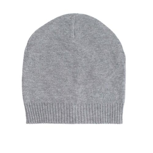 Hugo Boss Men/'s Basic Tonal Logo Knit Beanie Hat One Size Fits Most