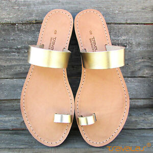 fcf0b8b89827c Details about Ancient Greek Toe Ring Premium Leather Sandals from Greece