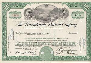 Pennsylvania-Railroad-Company-share-Eisenbahn-hist-Aktie-1966-USA-Philadelphia