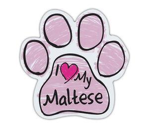 Pink Dog Bone Shaped Magnets Trucks and More! I Love My MalteseCars