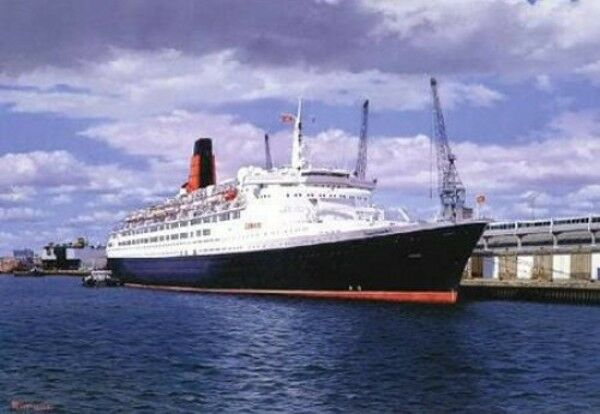 Queen Elizabeth 2 QE2 Cunard  British Ocean Liner Cruise Ship Birthday Card