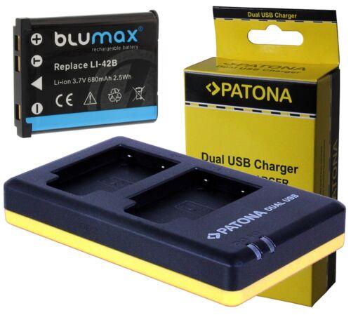 Bateria 680 mah incl patonas para dual USB Cargador para medion Life e44007 MD 87857