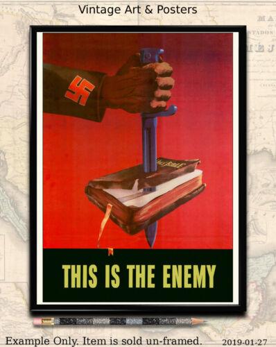 "This is the Enemy #2 World War II US Propaganda Poster WW2 8.5/""x11/"" Mini Print"
