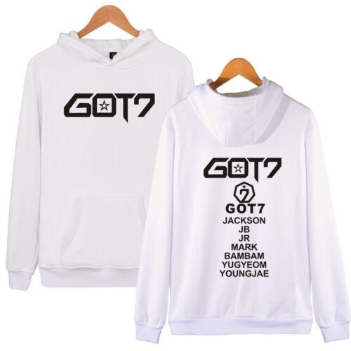 Kpop GOT7 Cap Thicken Hoodie Coat Sweater Jackson Mark Bambam Unisex Jacket New