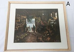 RARE-John-Samuel-Loxton-Boat-Shed-Interior-Otago-Listed-Australia-Artist-Print