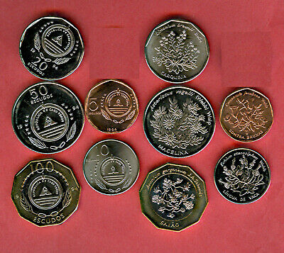 Cape Verde Official Mint Set BU 1994 1 5 10 20 50 100 escudos Flowers Flora