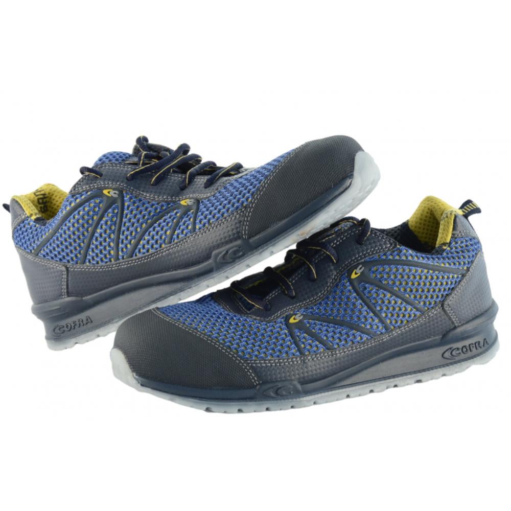Scarpe Antinfortunistiche COFRA linea RUNNING modello IMPULSE S1 P SRC scarpe lavoro tessuto altamente traspirante e MICROTECH, protezione della punta